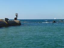 Zeehaven in Jaffa in Tel Aviv royalty-vrije stock afbeelding