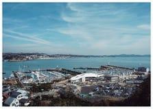 Zeehaven in Japan royalty-vrije stock foto's