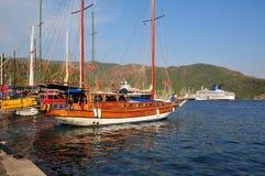 Zeehaven Marmars Turkije Stock Foto's