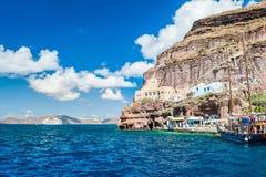 Zeehaven op het Santorini-eiland, Griekenland Stock Afbeeldingen