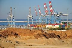Zeehaven van Ashdod. Israël. Stock Afbeeldingen
