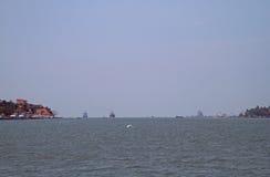 Zeehaven van Kochi, India Stock Foto