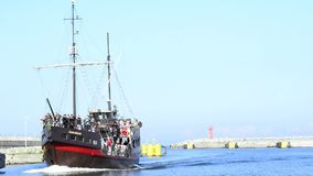 Zeehaven van Kolobrzeg, Polen Royalty-vrije Stock Foto's