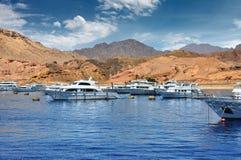 Zeehaven van Sharm el-Sheikh, Egypte, Afrika Stock Fotografie