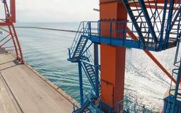 Zeehavenkraan Stock Afbeeldingen