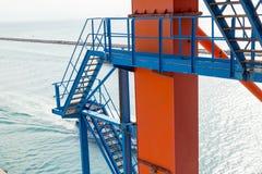 Zeehavenkraan Royalty-vrije Stock Foto's