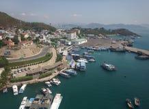 Zeehavenstad van Nha Trang Stock Afbeelding