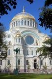 Zeekathedraal in Kronshtadt Stock Afbeelding