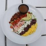 Zeekreeft cobb salade royalty-vrije stock afbeelding