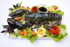 Zeekreeft en groenten Stock Afbeelding