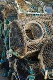 Zeekreeft en Krabpotten Stock Foto