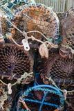 Zeekreeft en Krabpotten Royalty-vrije Stock Afbeeldingen