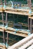 Zeekreeft of Krabvallen op aanhangwagen Stock Foto's