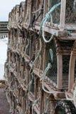 Zeekreeft of Krabvallen op aanhangwagen Royalty-vrije Stock Fotografie