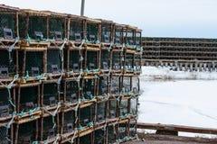 Zeekreeft of Krabvallen op aanhangwagen Royalty-vrije Stock Foto's
