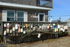 Zeekreeftboeien in Jeruzalem, Narragansett, RI Stock Fotografie