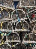 Zeekreeftenvallen royalty-vrije stock afbeelding