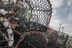 Zeekreeftnetten Stock Foto