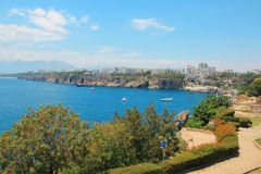 Zeekust, Antalya, Turkije royalty-vrije stock foto