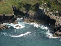 Zeekust in Engeland royalty-vrije stock afbeelding