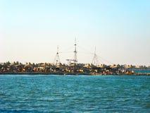 Zeekust van Baai Makadi royalty-vrije stock fotografie