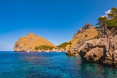 Zeekust van eiland Majorca Dichtbij GLB DE Formentor royalty-vrije stock fotografie