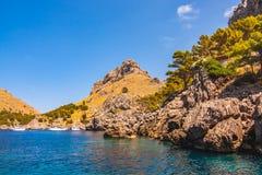 Zeekust van eiland Majorca Dichtbij GLB DE Formentor royalty-vrije stock afbeelding