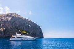 Zeekust van eiland Majorca Dichtbij GLB DE Formentor stock foto