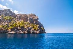 Zeekust van eiland Majorca Dichtbij GLB DE Formentor stock afbeelding