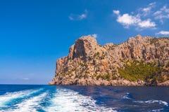 Zeekust van eiland Majorca Dichtbij GLB DE Formentor royalty-vrije stock foto