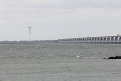 The Zeeland Bridge Royalty Free Stock Image