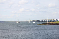 The Zeeland Bridge Royalty Free Stock Photography