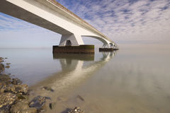 The Zeeland Bridge in Zeeland, The Netherlands. The Zeelandbrug Zeeland Bridge in the province of Zeeland in The Netherlands Royalty Free Stock Photo