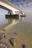 The Zeeland Bridge in Zeeland, The Netherlands royalty free stock photo