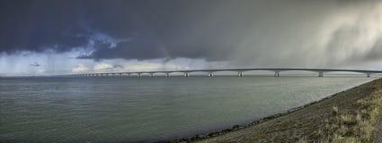Zeeland bro Arkivfoton