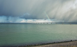 Zeeland bro Royaltyfri Foto