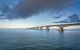 Zeeland bro Royaltyfri Fotografi