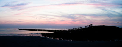 Zeeland dusk panorama Royalty Free Stock Photos