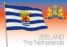 Zeeland regional flag, Netherlands, European union Stock Image