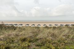 Zeeland ` s strand stock afbeeldingen