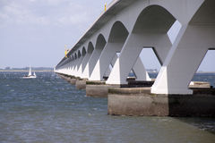 Zeelandbrug or Zeeland Bridge Royalty Free Stock Photos