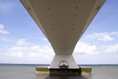 Zeelandbrug or Zeeland Bridge Royalty Free Stock Images