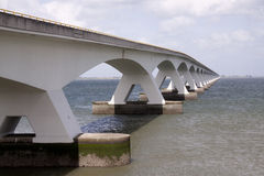Zeelandbrug or Zeeland Bridge Royalty Free Stock Photo