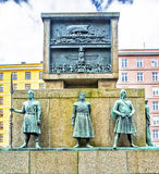 Zeeliedenmonument - Bergen Norway Royalty-vrije Stock Foto's
