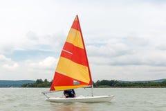 Zeeman in de wind Stock Afbeelding