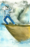 Zeeman op de open zee Stock Afbeeldingen