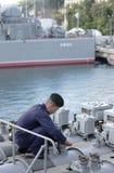 Zeeman op het fregat stock afbeeldingen