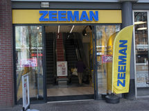 Zeeman store in Amsterdam center Royalty Free Stock Photos