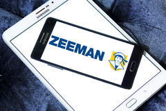 Zeeman stores logo. Logo of Zeeman stores on samsung mobile. Zeeman is a European chain store with about 1,000 establishments in the Netherlands, Germany Royalty Free Stock Photography