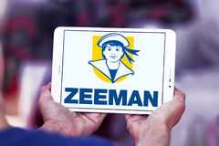 Zeeman stores logo. Logo of Zeeman stores on samsung tablet . Zeeman is a European chain store with about 1,000 establishments in the Netherlands, Germany Stock Photography